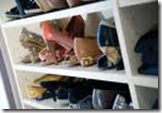 organized shoes