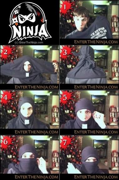 Como fazer máscara ninja usando uma camisa - Tutorial