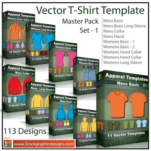 Master Pack : T-Shirt Templates - Veja todos os pacotes de camisas