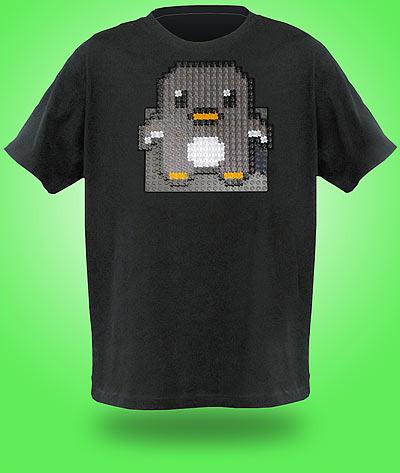Brick Construction Shirt - Camisa personalizada Lego - Pinguim Linux