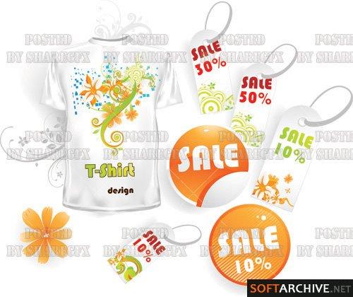 Estampa: Stock Vector - T-shirt Sales