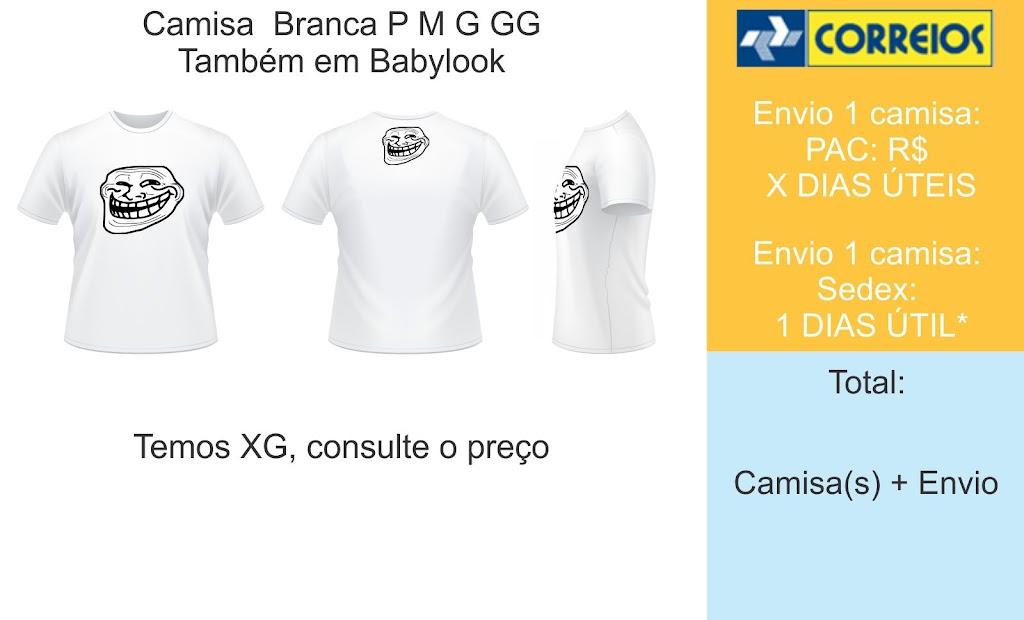 Camisa Troll Face - Vende Aqui