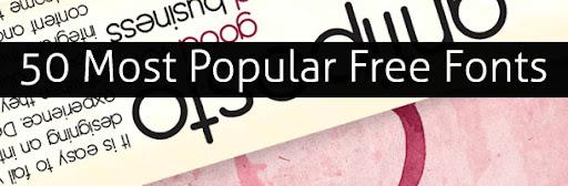 50 fontes mais populares Grátis - Download