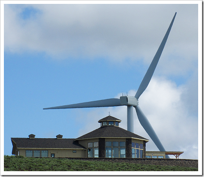 Wild Horse Wind Farm: visitor center (click for larger image)