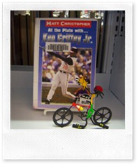 Wheelie does his best Ken Griffey, Jr. impression!