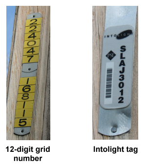 Redmond street light pole numbers