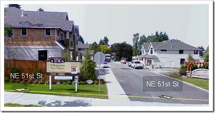 Google Street View: Houses On NE 51st St. In Redmond