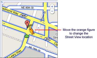 Google Street View: changing the location