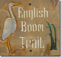 English Boom Trail sign