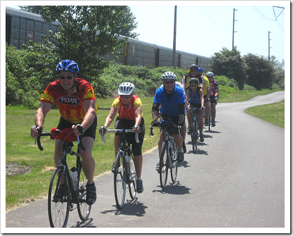 Interurban Trail bicyclists