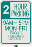 Redmond downtown parking sign