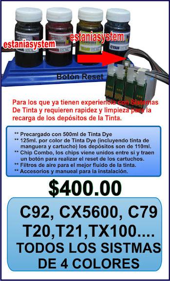 Estaniasystem: Sistema de Tinta para C92 CX5600 muchos