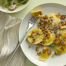 Ravioli With Pork, Fennel, and Shiitake Sauce