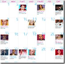 Calendario - Febrero 2009.