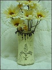 hot glue fleur de lis vase 017