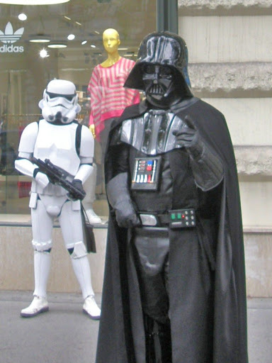 Darth Vader, Budapest, Hungary, Star Wars, storm trooper