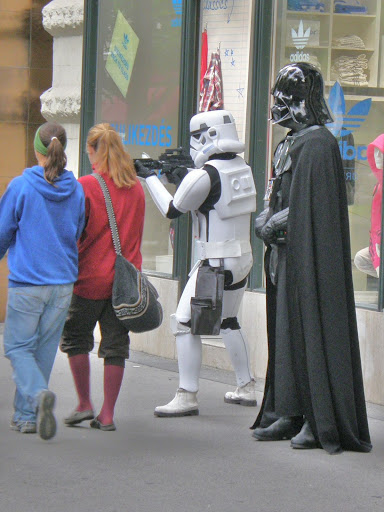 Darth Vader, Budapest, Hungary, storm trooper
