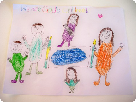 Mikayla family drawing