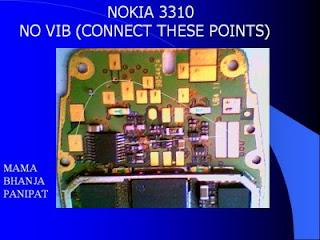 Trik  Jumper Nokia 3310 no vibra