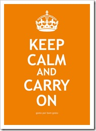 Keep Calm Laranja