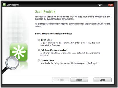 Quicksys RegCleaner 2009 2