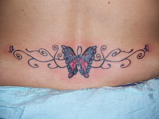 small butterfly tattoos on