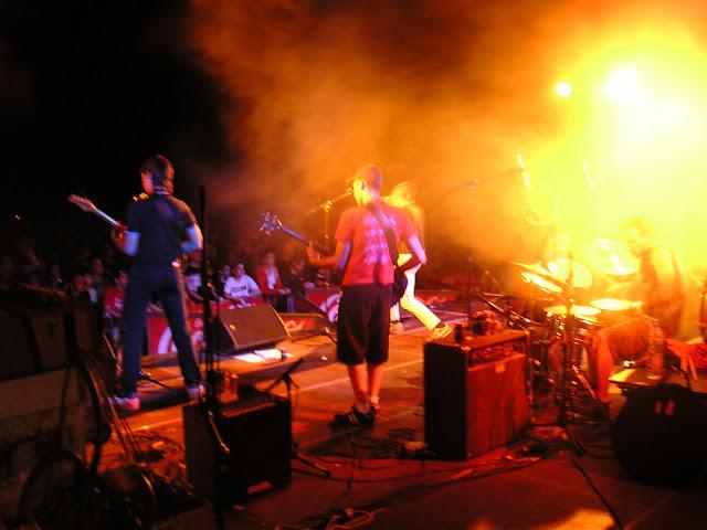 Actuaci&oacute; del grup palmarenc <b>Doble Malta</b> en la vuitena edici&oacute; del concert Xapulina Roc. Edici&oacute; realitzada al Pla de Sant Joan. <b>Autor: Konfrare Albert</b>