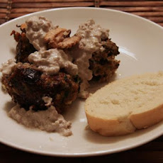 Georgian Meatballs With Tahini and Walnut Sauce