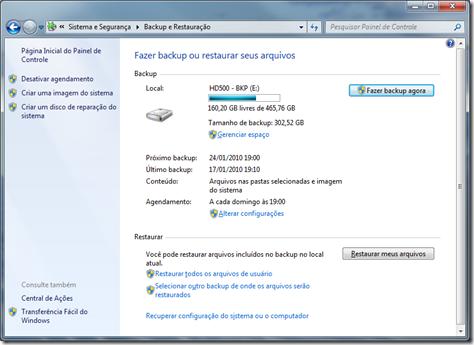 Backup do Windows