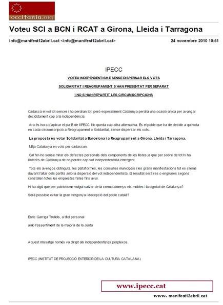 IPECC vòta per las eleccions venentas