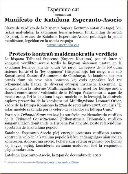 comunicat publicat sobre esperanto.cat 231210