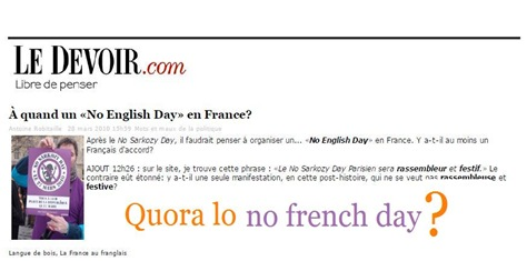 No English Day in France comentat
