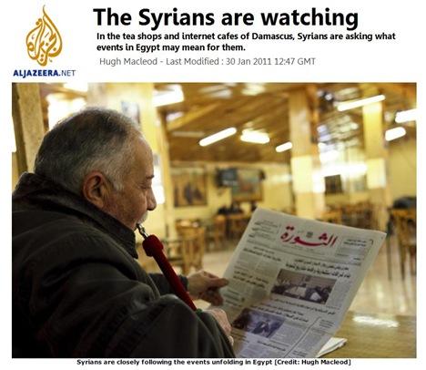 Syrians a watching AlJazeera 300111