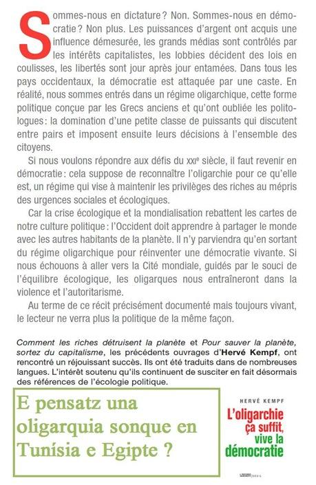 Oligarquia quatrena pagina de cobèrta Hervé Kempf