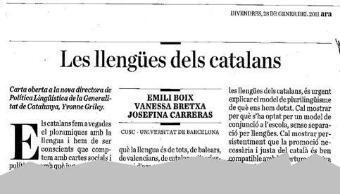 Les llengües sdels Catalans (1)