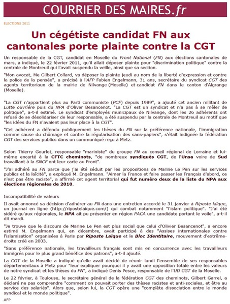 cgt FN Courrier 220211