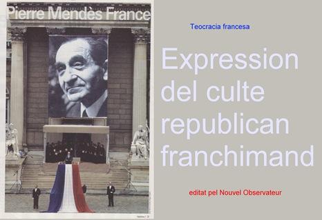 expression de la teocracia republicana francesa