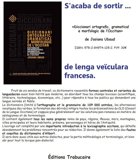 Diccionari Ortografic Occitan ElTrabucaïre
