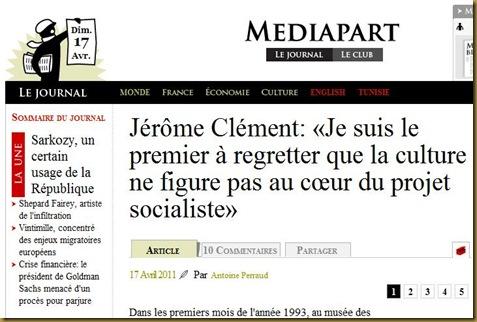 Culture Socialiste Jérôme Clément