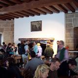 Restaurangen i Kehlsteinhaus. Eldstaden och tavlan ovanför har funnits sedan huset byggdes
