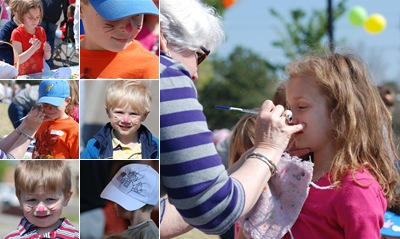 View Hats, Face Painting, and Snacks
