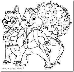 les-chipmunks-coloriage