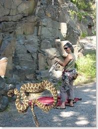 lisa with snake