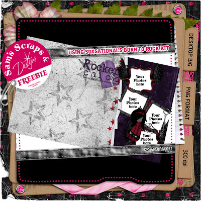 http://samsscrapsandsigtags.blogspot.com/2009/05/born-to-rock-destop-freebie.html