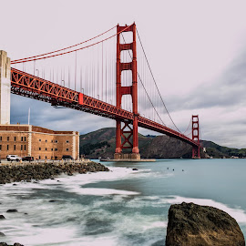 The Majestic Golden Gate Bridge by Paul Stonehouse - Landscapes Travel ( golden gate bridge, northern california, california, bay area, san francisco )