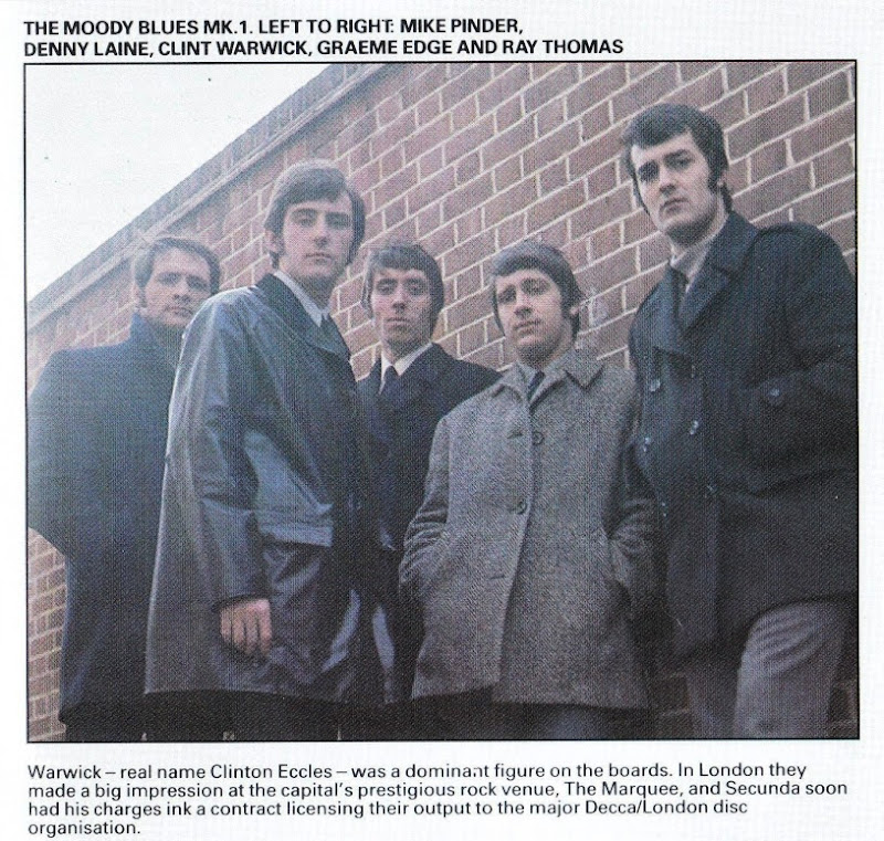 the Moody Blues ~ 1966 ~ the Magnificent Moodies inside