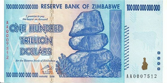 Zimbabwe $100 trillion 2009 Obverse