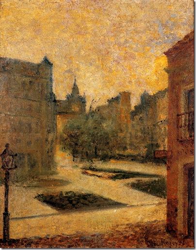 Darío de Regoyos - Plaza de Bilbao 1892