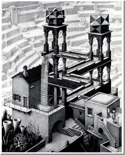 M. C. Escher - waterfall