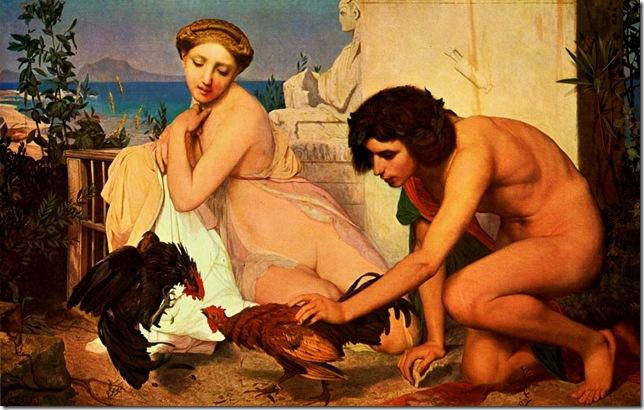 Jean leon Gerome - combat de coqs